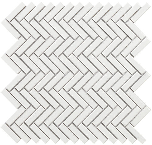 Malla Chevron White Gloss 28x27